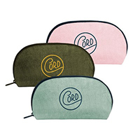 Glam Clam Corduroy Cosmetic Pouches