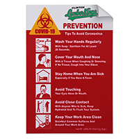 "COVID-19 Coronavirus Prevention Custom Warning Sign 4"" x 6"" Vinyl Stickers"