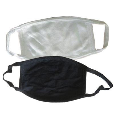 Layered Fabric Masks with Elastic Straps (Blank)