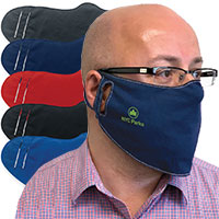 Cotton Face Masks with Contrast Stitching