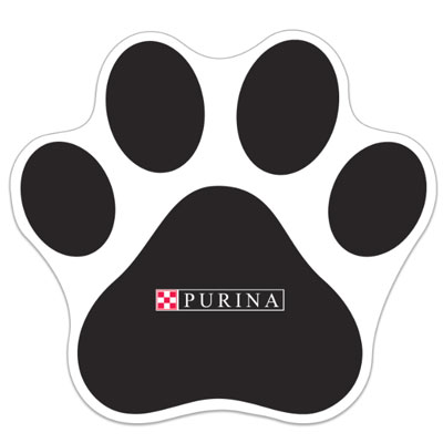 Pawprint Floor Decals - Printed