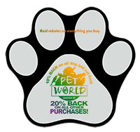 Pawprint Floor Decals - Full Color