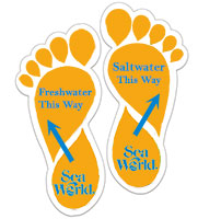Footprint Floor Decals - Printed