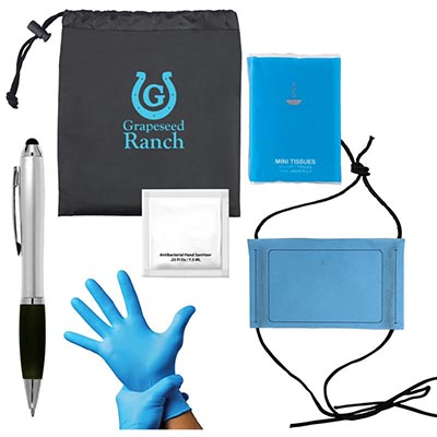 Out And About Kits - Mask, Pouch, Tissue Pack, Stylus & Sanitizer