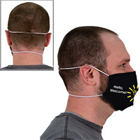 Imprinted Face Covers with Elastic Head Loop