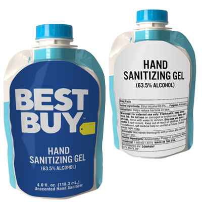 Hand Sanitizer Squeeze Pouches - 4 oz.