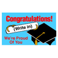 Graduation Yard Signs - Write-In Grad Name