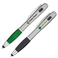 Trio Pens with LED Light and Stylus