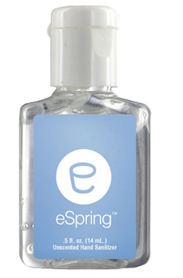 Clear Sanitizer in Clear Bottles - .5 oz.