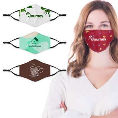 Full Color Cloth Masks with Adjustable Ear Straps