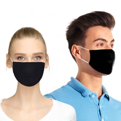 Flat Cotton Face Masks with Pocket for Filter Insert - Blank