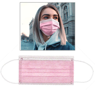 Disposable Pink Face Masks - Blank