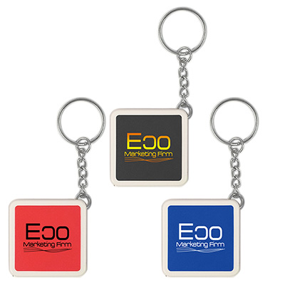 Square Key Chain Tape Measures