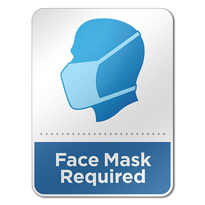 "6"" x 8"" Face Mask Required Wall Signs"