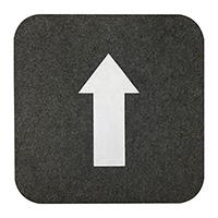 "Directional Arrow Floor Mats - 17"" x 17"""