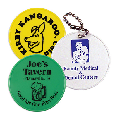 Junior Round Tokens with a Keychain Hole