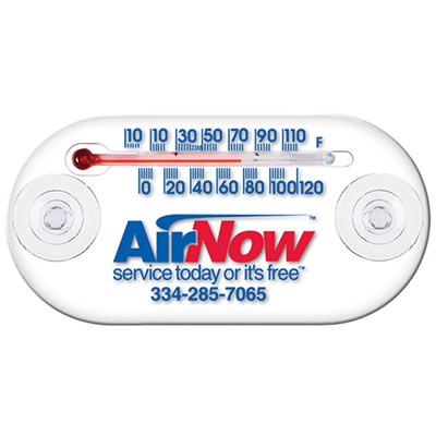"Clear Indoor/Outdoor Window Thermometers - 4"" x 2"""