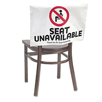 Seat Unavailable Signs - Stock Imprint