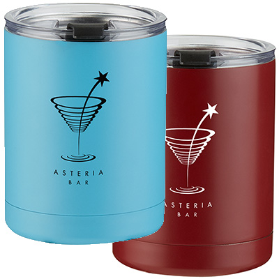 10 oz. Stainless Steel Low Ball Tumblers