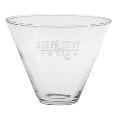 13.5 oz. Stemless Martini Glasses - Deep Etched
