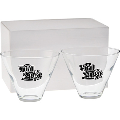 13.5 oz. Stemless Martini Gift Sets