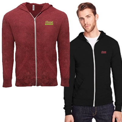 Threadfast Apparel Triblend Full-Zip Light Hoodies