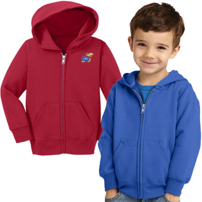 Port & Co Fleece Full Zip Hooded Sweatshirts - Toddlers