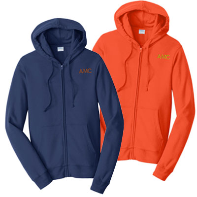 Port & Co Fleece Full Zip Hooded Sweatshirts