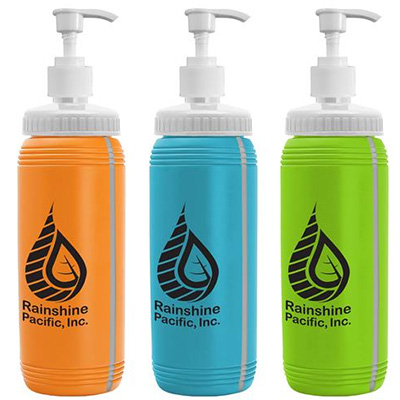 16 oz. Pump Bottles With View Stripe