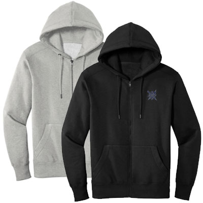 District Perfect Weight Fleece Full Zip Hoodies