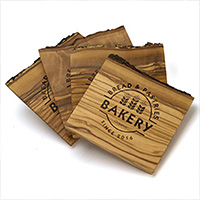 Olive Wood Coaster Sets