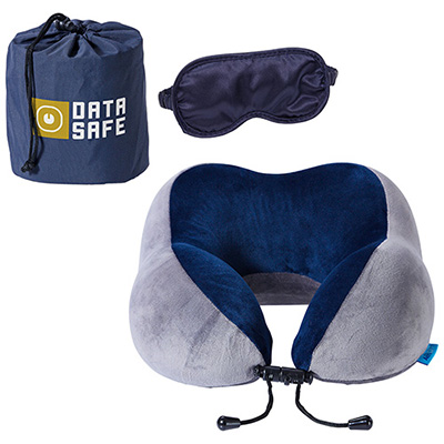 Business First Travel Pillow with Sleep Mask