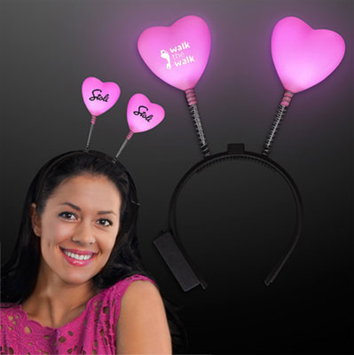 Light Up Hearts Head Boppers