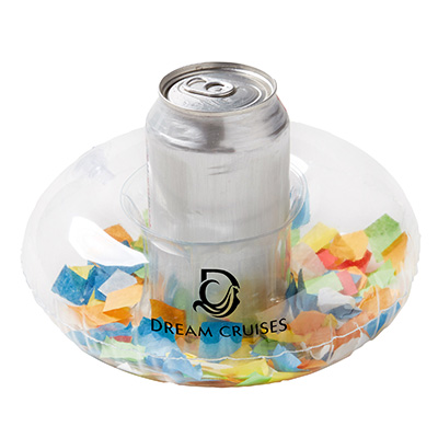 Inflatable Confetti Filled Coasters