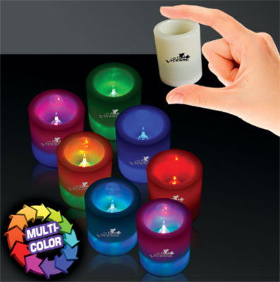 7 Color LED Votive Candles - 2.5""