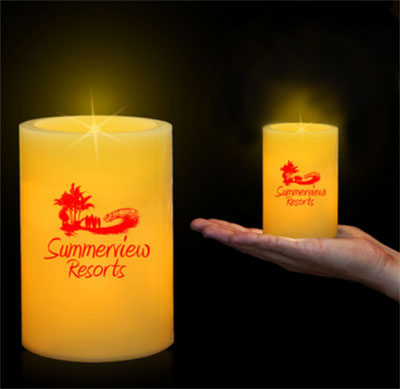 LED Pillar Candles - 4.25""