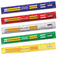 Ruler Stationary Kits with Pencils, Eraser and Sharpener