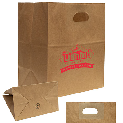 Reinforced Handle Kraft Paper Bags - 10.25 x 11.8
