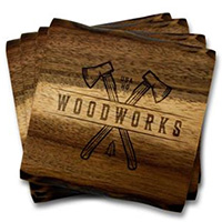 Acacia Wood Coaster Sets