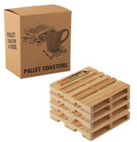 Wood Palette Coaster Sets