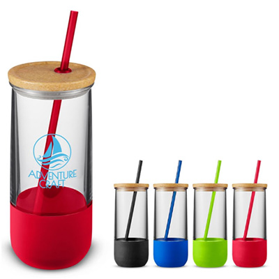 Vivify Straw Tumblers With Silicone Grip - 20 oz.