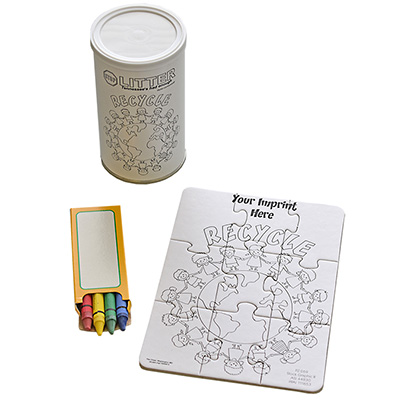 "9 Piece Coloring Puzzles in Cans - 5"" x 7"""