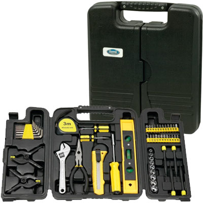 Tool Sets with Tri-Fold Carrying Case