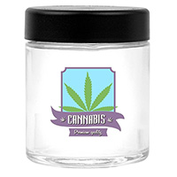 Glass Cannabis Jars - 3 oz.