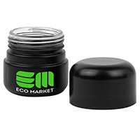 Matte Black Glass Cannabis Jars - 50 grams
