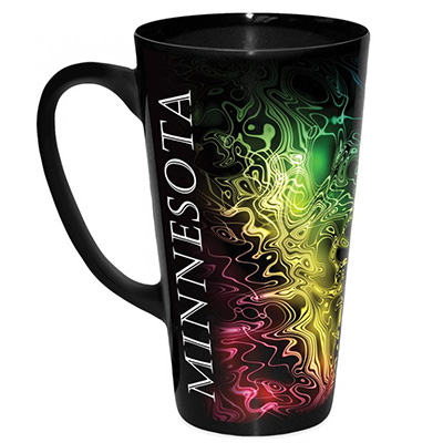 Tall Black Latte Mugs with Full Color Wrap Imprint