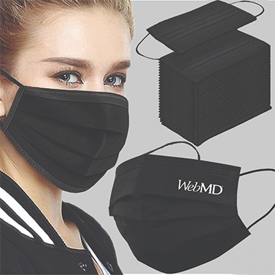 Black Disposable Face Masks - 3 Layers