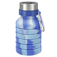 18 oz. Zigoo Silicone Collapsible Bottles - Blue Tie Dye