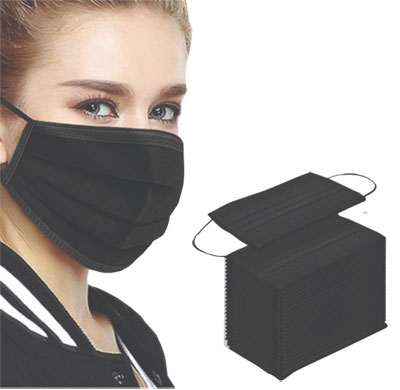 Blank Black Disposable Face Masks - Low Minimum