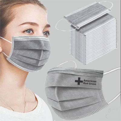 Gray Disposable Face Masks - 3 Layers